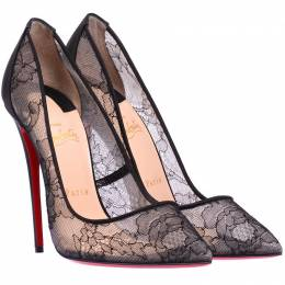 Christian Louboutin Black Floral Lace So Kate Pumps Size 39.5 225168