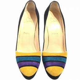 Christian Louboutin Multicolor Suede Pumps Size 39.5 214474