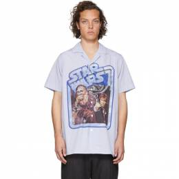 Etro Blue and White Star Wars Edition Poster Shirt 192267M19201404GB