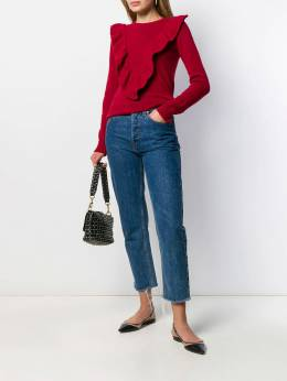 Red Valentino - ruffled v jumper KCB805MP955960380000