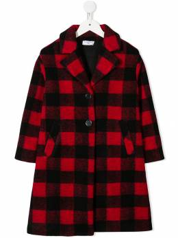 Monnalisa - checked single breasted coat 906B5556595539350000