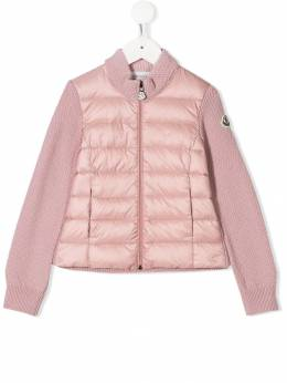 Moncler Kids - shell-panelled textured-knit jacket 39659699c95535938000