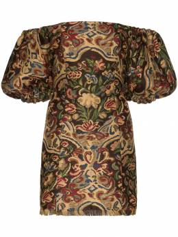 Etro - tapestry embroidered mini dress 98635995683369000000