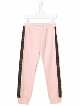 Fendi Kids - logo stripe track pants 9595V695599583000000