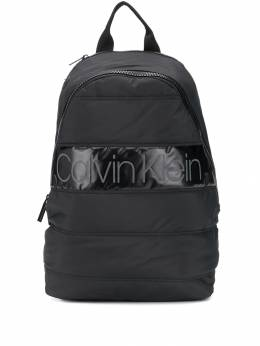 Calvin Klein - quilted logo patch backpack K565383BDS9556689300