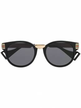 Gucci Eyewear - web-striped cat-eye sunglasses 665J6336955933550000