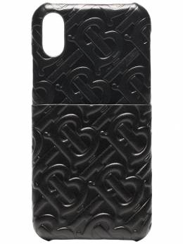 Burberry - embossed TB logo leather iPhone X CSS case 89959535356900000000