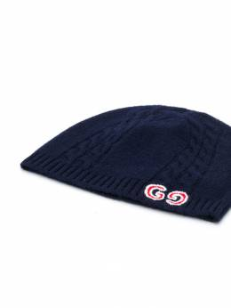 Gucci Kids - GG cable knit beanie 6353K066955096630000