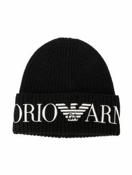Emporio Armani Kids - embroidered logo beanie 5809A559955085360000