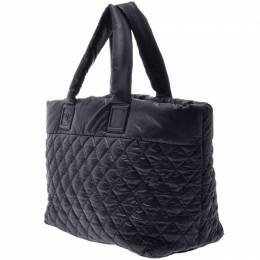 Chanel Black Quilted Nylon Coco Cocoon Tote Bag 227522