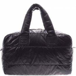 Chanel Black Quilted Nylon Coco Cocoon Hobo Bag 227593
