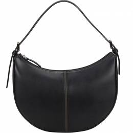 Burberry Black Leather Half Moon Hobo Bag 216844