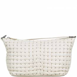 Bottega Veneta White Leather Shoulder Bag 215551