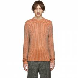 Acne Studios Brown and Orange Kaiser Sweater 192129M20102001GB