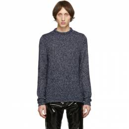 Acne Studios Blue and White Kaiser Sweater 192129M20102205GB