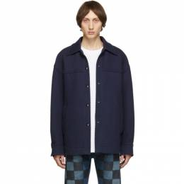 Acne Studios Navy Ocilia Jacket 192129M18001302GB