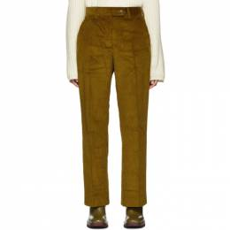 Acne Studios Yellow Vintage Cord Patsyne Trousers 192129F08700506GB