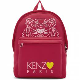 Kenzo Pink Limited Edition Large Tiger Backpack 192387F04202401GB