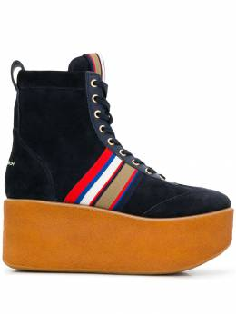 Tory Burch - striped suede platform boots 35955350590000000000