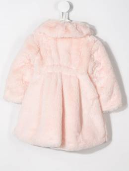 Aletta - faux-fur bow detailed coat 99586955383650000000