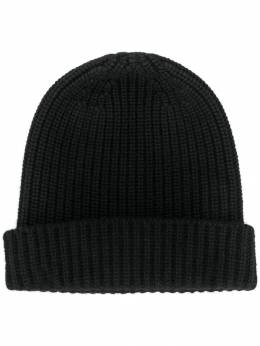 Cruciani - cashmere ribbed-knit hat 56969553935500000000