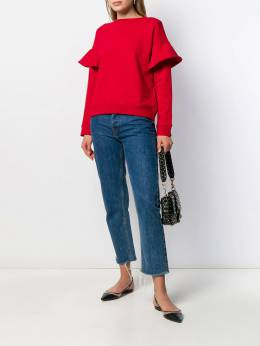 Red Valentino - ruffle trim sweatshirt MF69U5M0955960330000