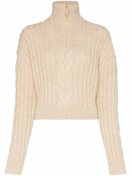 Nanushka - Eria cropped cable knit sweater 66659939939550000000