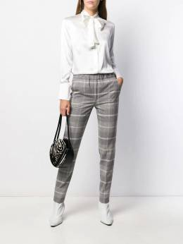 D.Exterior - checked slim fit trousers 56955908930000000000