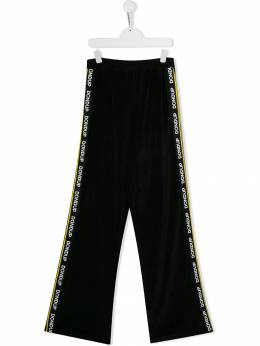 Dondup Kids - TEEN contrast side panel flared trousers 93FY6665GXXX95503539