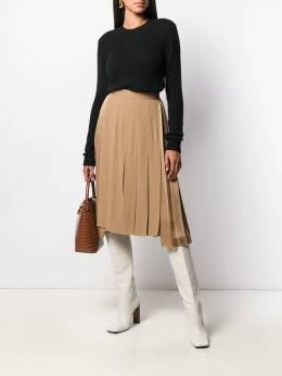 Nº21 - pleated asymmetric skirt C6895398955699390000
