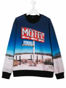 Nº21 Kids - Motel graphic sweatshirt 530N6665955365550000