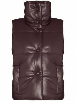 Nanushka - Morillo faux leather puffa gilet 66669939939530000000