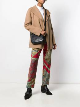 Etro - panelled paisley-print trousers 56599595503655000000