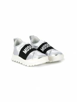Moschino Kids - low top logo sneakers 09955090890000000000