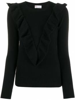 Red Valentino - ruffled V jumper KCB805MP955960360000