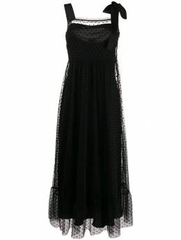 Red Valentino - dotted tulle long dress VA65A5KN955993960000