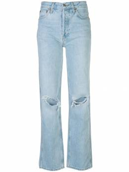 Re/Done - high-rise distressed straight leg jeans 3WHRL955009850000000