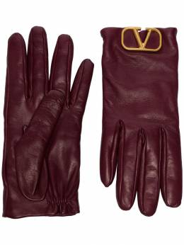 Valentino - logo-embellished leather gloves GDA66WJW956968880000