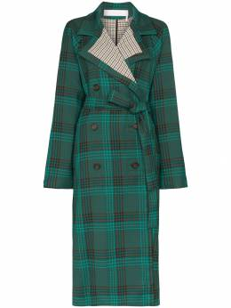 See By Chloé - double-breasted check trench coat 99WMA656639595669000
