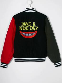 Stella McCartney Kids - бомбер с вышивкой All Together Now Nice Day 559SNK93955695660000