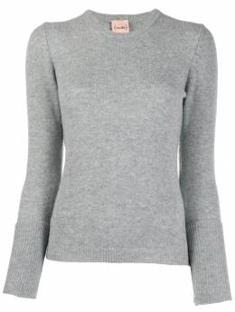 Nude - layered sleeve contrast knit sweater 96609550660500000000