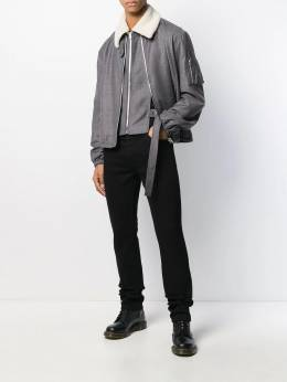 Helmut Lang - layered contrasting-collar jacket HM560955956690000000