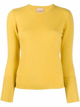 Nude - layered sleeve fine knit sweater 96609550660500000000