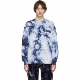 Acne Studios Navy Tie-Dye Anatomy Patch Sweatshirt 192129M20401705GB