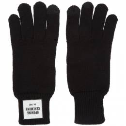 Opening Ceremony Black Knit Logo Gloves 192261F01200101GB