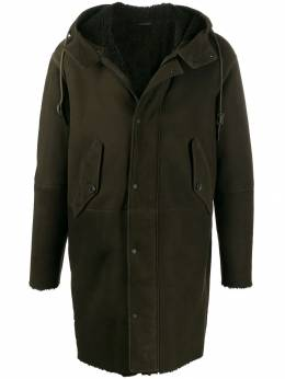 Closed - leather hooded coat 03380X00955696880000