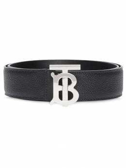 Burberry - monogram motif grainy leather belt 55999599096900000000