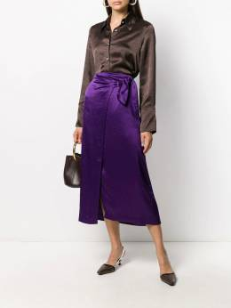 Nanushka - Amas satin wrap skirt 66666955090050000000