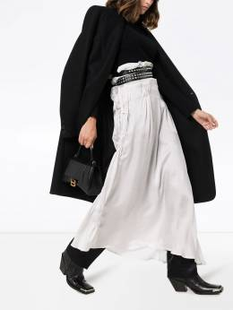 Ann Demeulemeester - asymmetric pleated maxi skirt 99366900636935558630