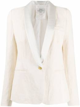 Forte Forte - contrasting lapel single-breasted blazer 9MYJACKET95533535000